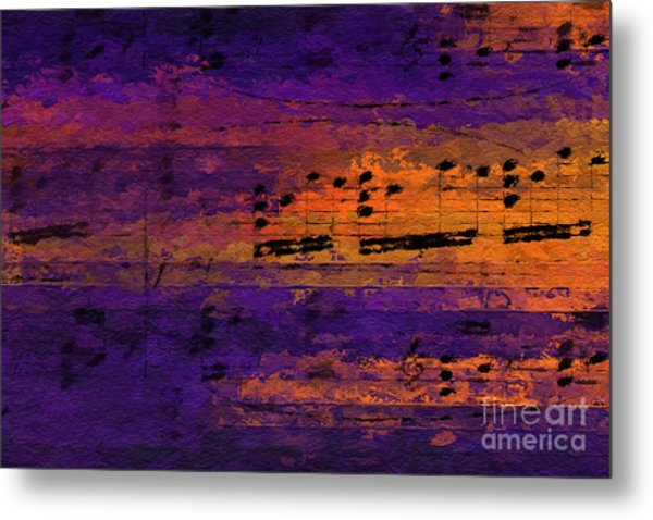Purple Phrase 2 Metal Print