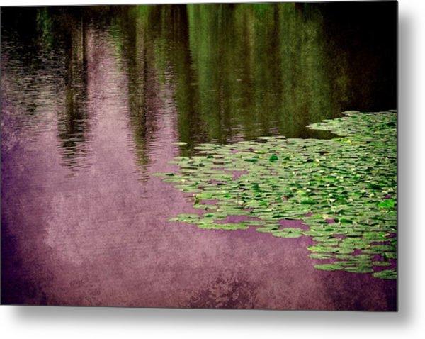 Purple Pond Reflections Metal Print