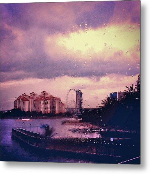 Metal Print featuring the photograph Purple Rain by Yen