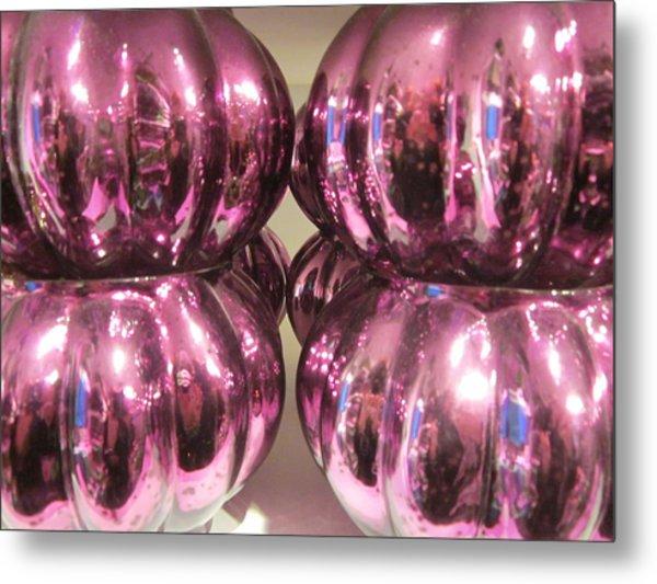 Purple Reflection Metal Print