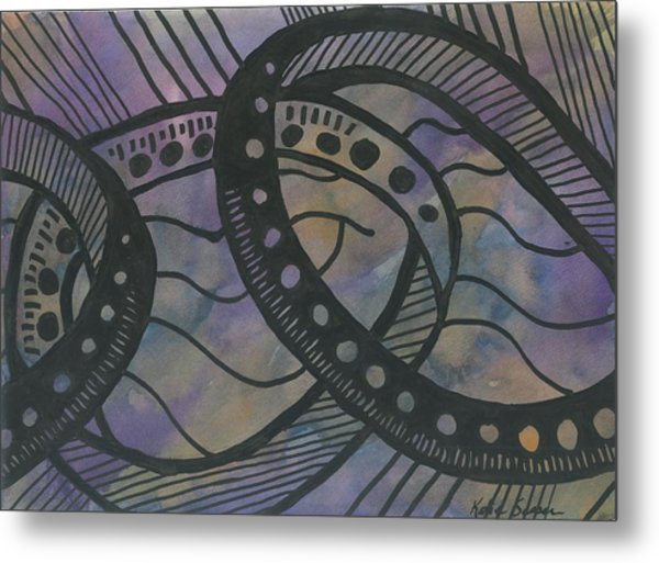Purple Rings Metal Print