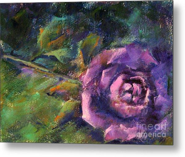 Purple Rose Metal Print by Addie Hocynec