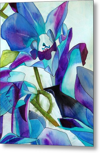 Purple Singapore Orchids Metal Print by Sacha Grossel