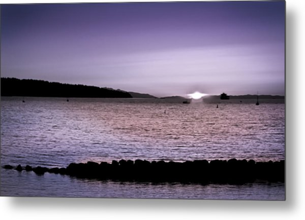 Purple Sunset At English Bay Metal Print