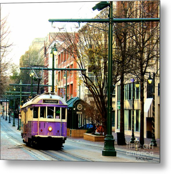 Purple Trolley Metal Print