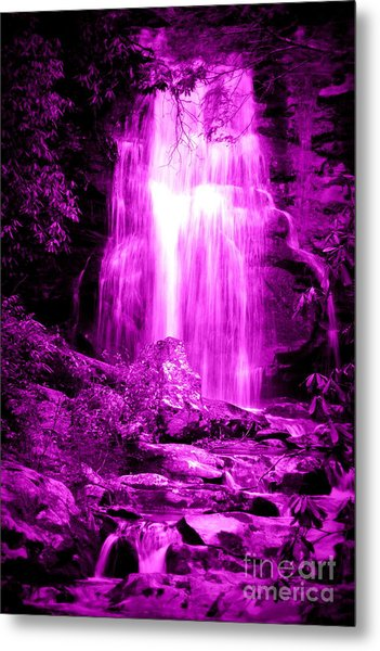 Purple Waterfall Metal Print