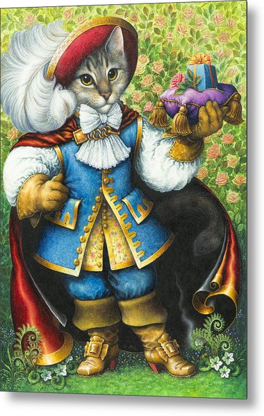 Puss-in-boots Metal Print