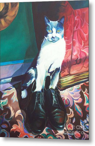 Puss In Shoes.  Metal Print