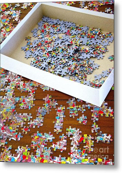 Puzzle Of Life  Metal Print by Bobby Mandal