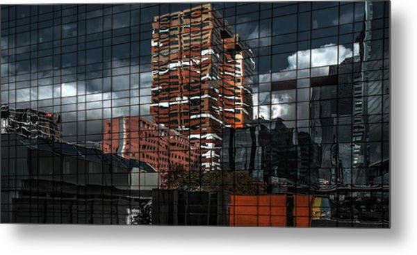 Puzzle Reflection Metal Print by Gilbert Claes