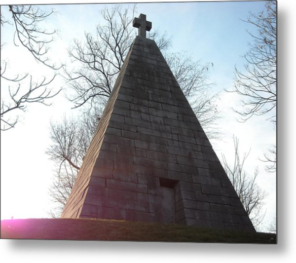Pyramid At Dusk Metal Print