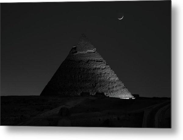 Pyramid At Night Metal Print by Vincent Chen