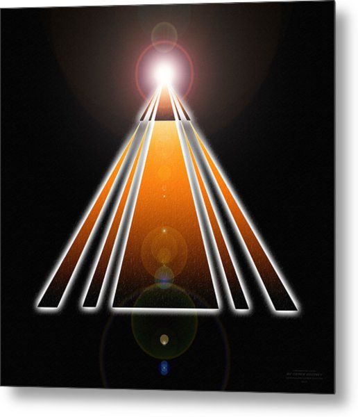 Pyramid Of Light Metal Print
