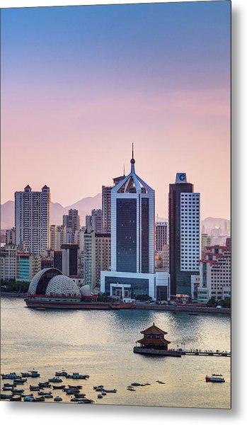 Qingdao Bay Sunset Scene Metal Print by Miragec