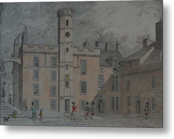 Quadrangle Edinburgh Castle Metal Print