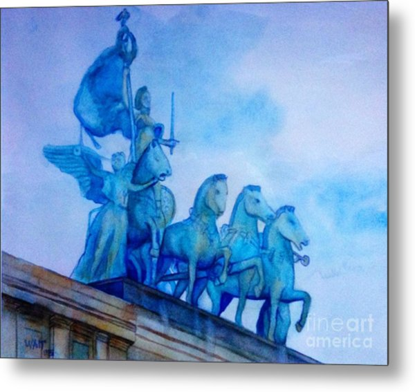Quadriga At Grand Army Plaza Metal Print