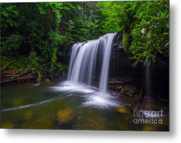 Quadrule Falls Summer Metal Print