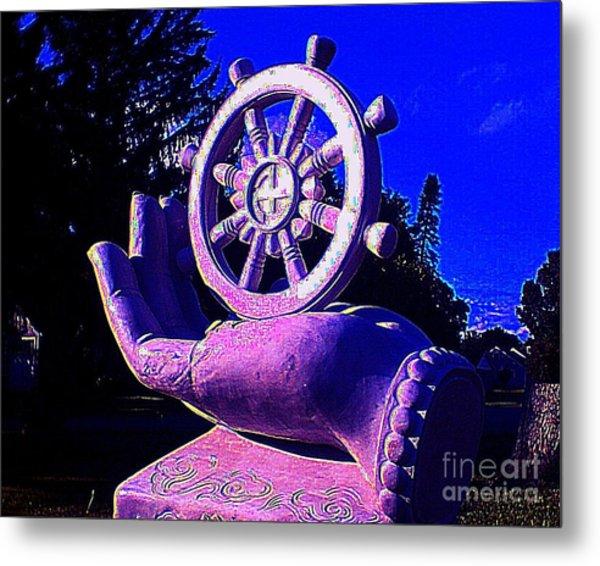 Buddhist Dharma Wheel 2 Metal Print
