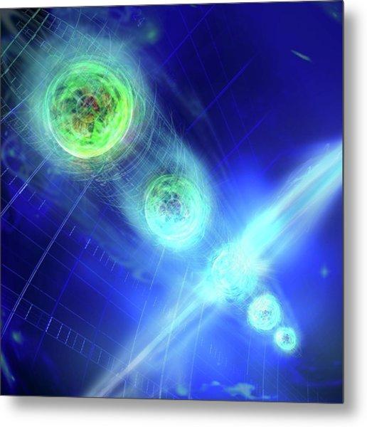 Quantum Entanglement Metal Print