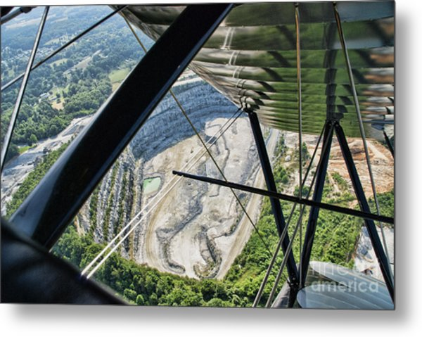 Quarry From The Air Metal Print