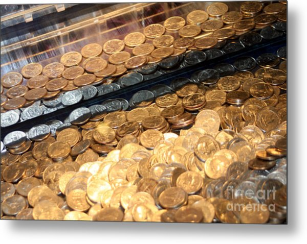 Quarters In An Arcade Game Metal Print