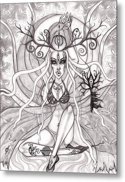Queen Aeranelii Metal Print by Coriander  Shea