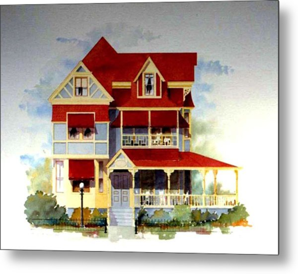 Queen Anne Victorian Metal Print