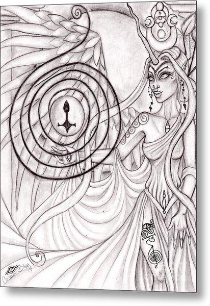 Queen Arianrhod Metal Print by Coriander  Shea