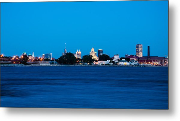 Queen City At Night Metal Print