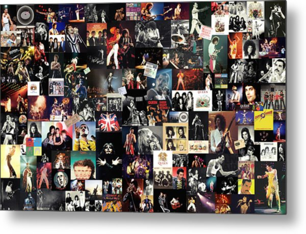 Queen Collage Metal Print