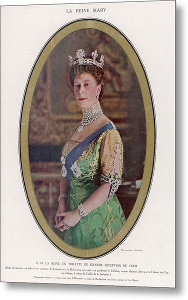 Queen Mary (1867 - 1953) Wearing Metal Print by Mary Evans Picture Library
