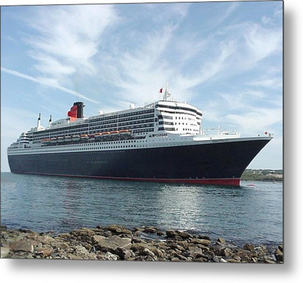Queen Mary 2 In Halifax Metal Print