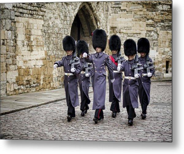 Queens Guard Metal Print