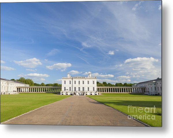 Queen's House In Greenwich Metal Print by Roberto Morgenthaler