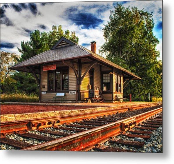 Queponco Railway Station Metal Print