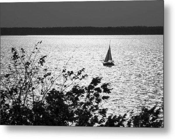 Quick Silver - Sailboat On Lake Barkley Metal Print