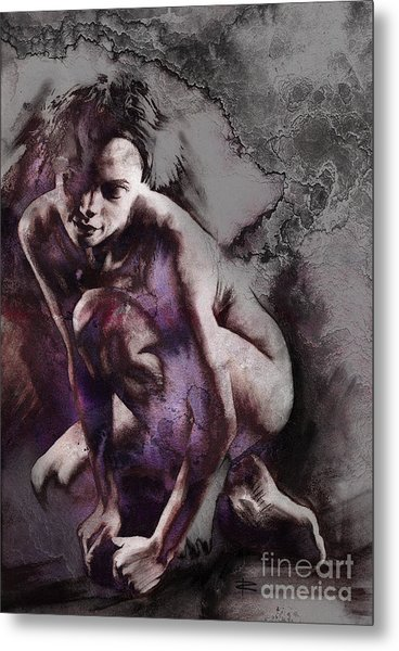 Quiescent With Texture Metal Print