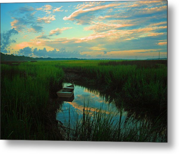 Quiet Gateway Metal Print by Tony DelSignore