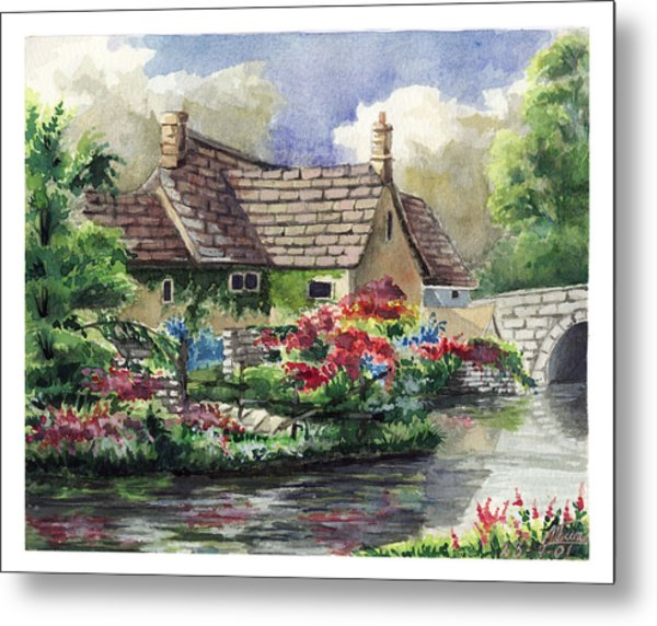 Quiet House Along The River Metal Print