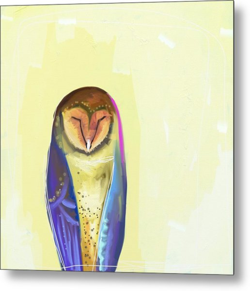 Quiet Owl Metal Print