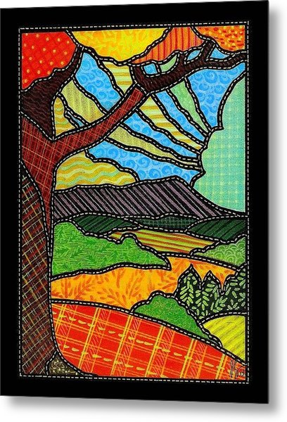 Quilted Bright Harvest Metal Print