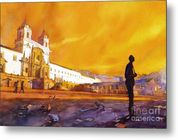 Quito Sunrise Metal Print