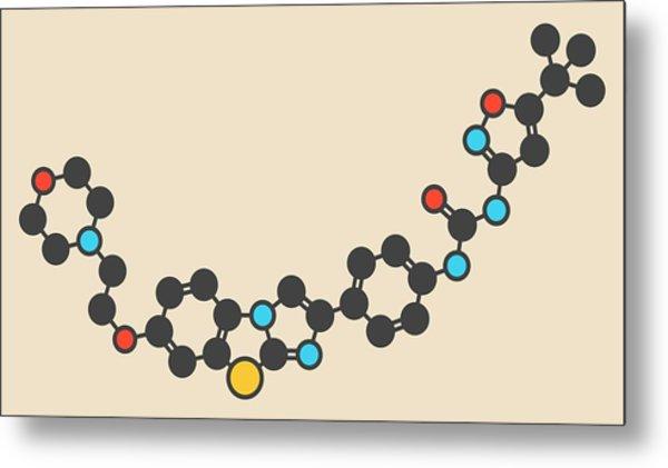 Quizartinib Drug Molecule Metal Print by Molekuul
