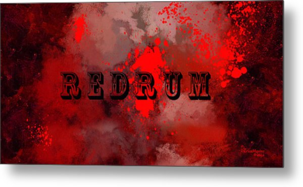R E D R U M - Featured In Visions Of The Night Group Metal Print