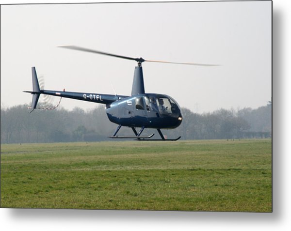 R44 Raven Helicopter Metal Print