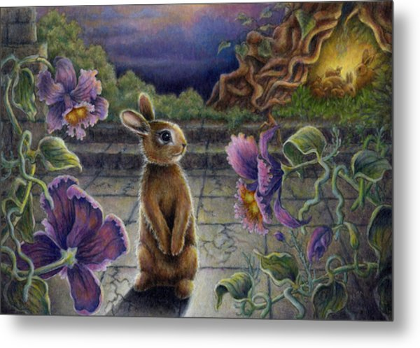 Rabbit Dreams Metal Print