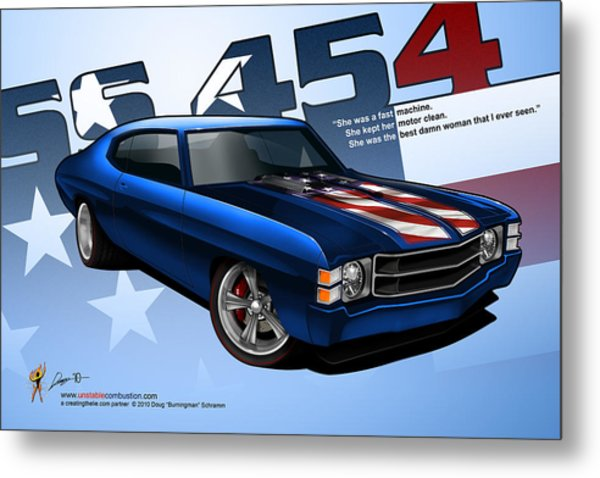 Race Chevelle Metal Print