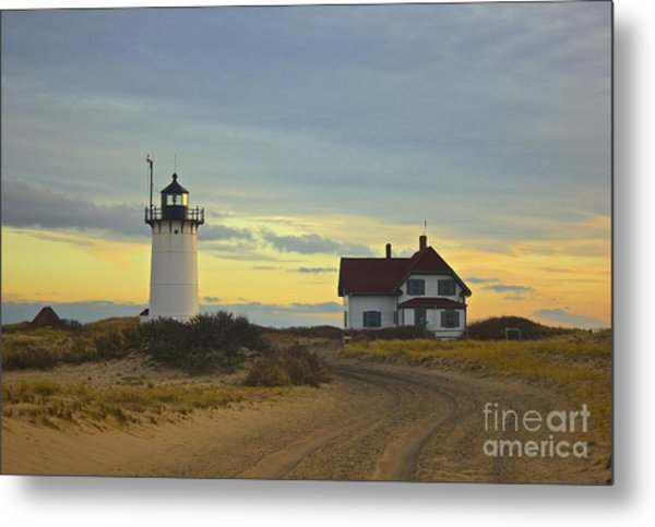Race Point Lighthouse At Sunset Metal Print