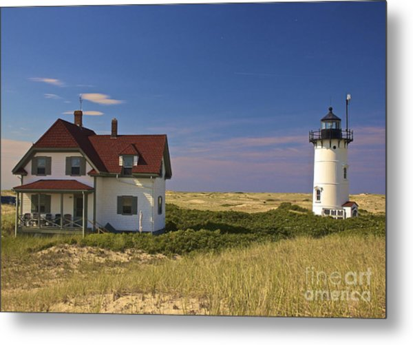 Race Point Lighthouse In Summer Metal Print