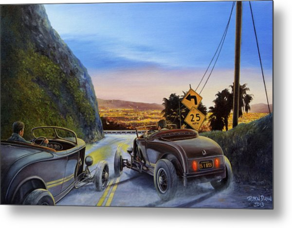 Race To Dead Man's Curve Metal Print
